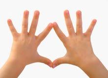 дети показывают руки s Стоковое Изображение RF