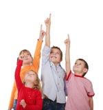 дети показывая вверх Стоковые Изображения