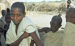 Дети портрета эфиопские Afar в традиционном костюме стоковое изображение rf