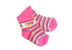 дети предпосылки изолировали носки s белые Стоковая Фотография RF