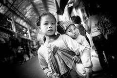 Дети племени Akha Стоковая Фотография RF