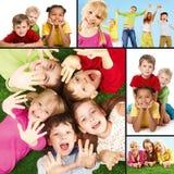 дети радостные Стоковое Фото