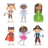 Дети различной нации в костюмах на партия или праздник Стоковые Изображения