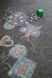 Дети рисовали Стоковые Фотографии RF