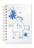 дети рисуя блокнот Стоковая Фотография