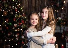Дети рождества счастливые смешные стоковое фото rf