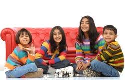 дети собирают играть Стоковое Изображение RF
