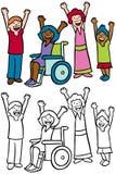 дети счастливые иллюстрация штока