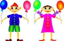 дети счастливые Иллюстрация вектора