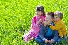 дети счастливые стоковые изображения rf