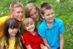 дети счастливые Стоковое фото RF