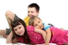 дети счастливые 3 Стоковые Фотографии RF