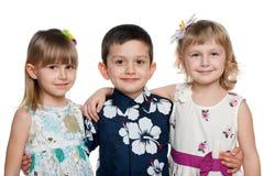 дети счастливые 3 Стоковые Фото