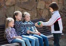 Дети с малый играть шарика Стоковые Фотографии RF