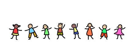 Дети танцуя иллюстрация Стоковые Изображения