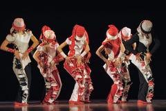 Дети танцуя на этапе Стоковое Фото