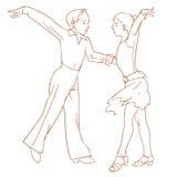 Дети танцуя пары Стоковая Фотография