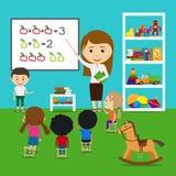 Дети учителя уча Стоковое Изображение RF