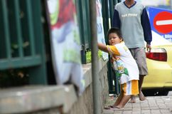Дети улицы в бедных странах Стоковое Изображение RF