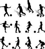 Дети футбола Иллюстрация штока