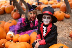 Дети хеллоуина, дети Стоковое фото RF