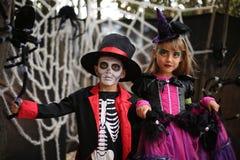 Дети хеллоуина, дети Стоковое Изображение