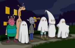 Дети хеллоуина иллюстрация штока