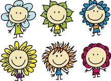Дети цветки бесплатная иллюстрация