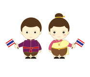 Дети шаржа Таиланда иллюстрация штока