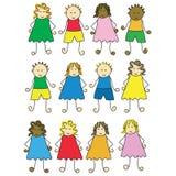 дети шаржа Стоковые Фотографии RF