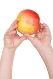 дети яблока вручают держат s Стоковые Изображения