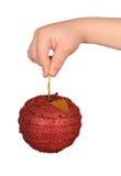 дети яблока вручают игрушку удерживания s Стоковая Фотография RF