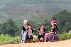 Дети Hmong Стоковая Фотография
