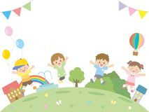 Дети jump2 иллюстрация штока