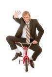 дети s бизнесмена велосипеда Стоковые Изображения