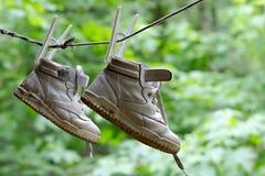 дети s ботинка Стоковая Фотография RF