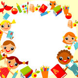дети s предпосылки иллюстрация вектора