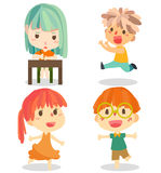 Дети vector милое Стоковая Фотография