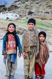 Дети Zanskari Стоковые Изображения RF