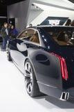 ДЕТРОЙТ - 26-ОЕ ЯНВАРЯ: Новый автомобиль концепции Кадиллака Elmiraj на Th Стоковые Изображения RF