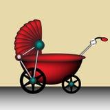 детская дорожная коляска иллюстрация вектора