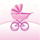 детская дорожная коляска иллюстрация штока