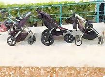 Детские дорожные коляски Стоковые Изображения RF