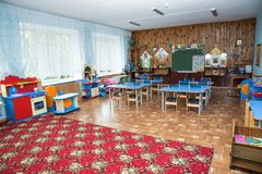 Детский сад класса, класс в начальной школе стоковое фото