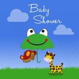 Детский душ жирафа и бабочки Стоковое Фото