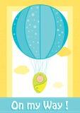 Детский душ, на моей карточке приглашения пути Стоковые Изображения RF