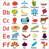 Детск-алфавиты-abcdef для малых детей стоковые изображения