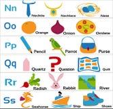 Детск-алфавиты-nopqrs для малых детей иллюстрация вектора