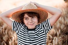 Детство в поле Стоковое Изображение