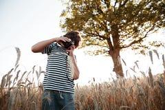 Детство в поле Стоковое Фото